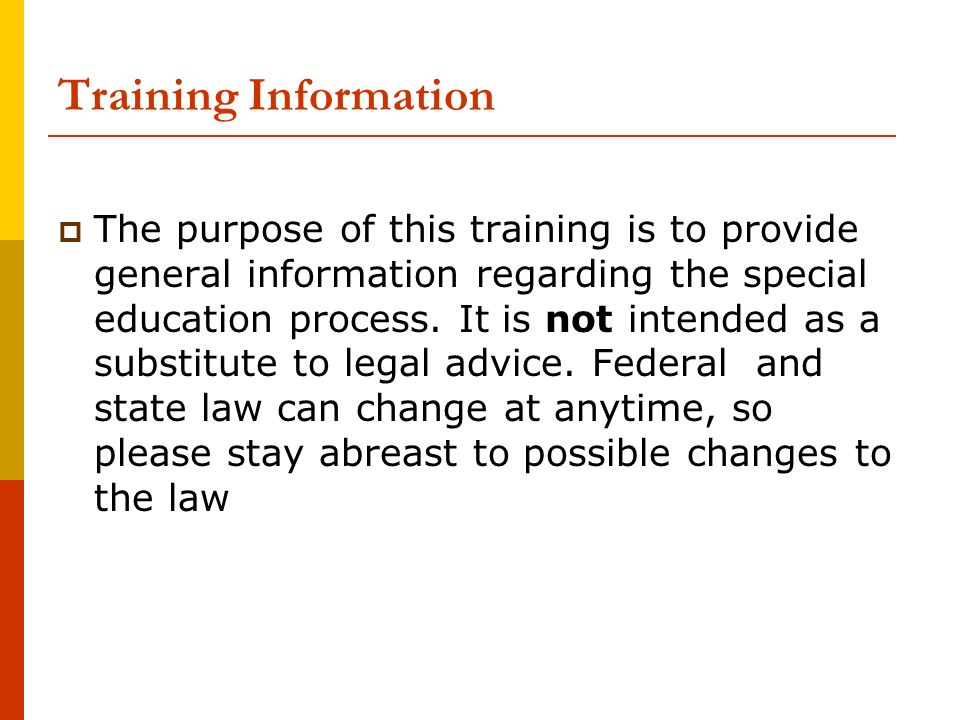 Training Information