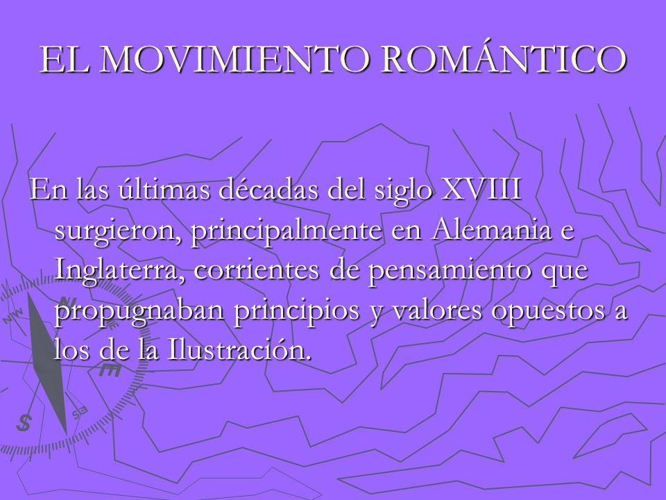 EL MOVIMIENTO ROMÁNTICO