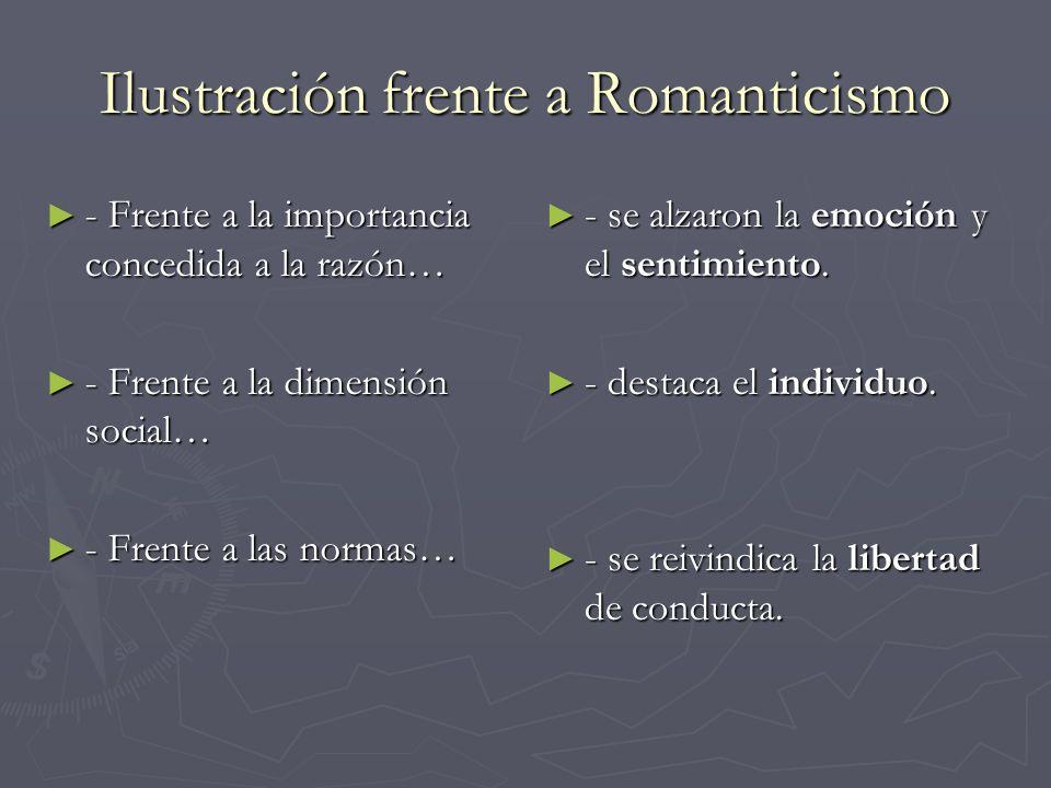 Ilustración frente a Romanticismo