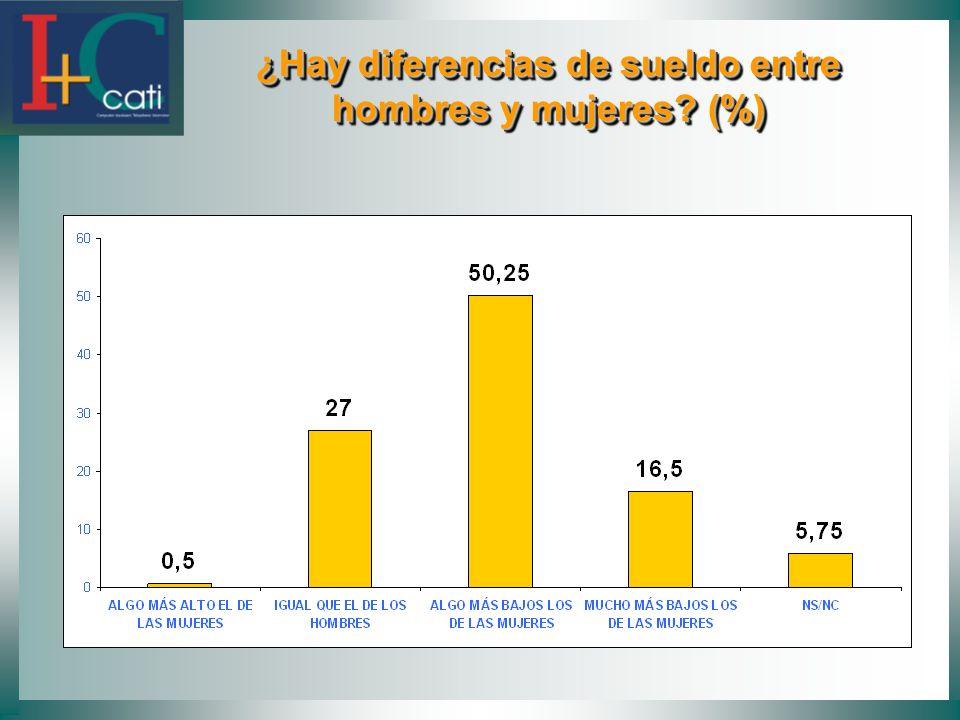 ¿Hay diferencias de sueldo entre hombres y mujeres (%)