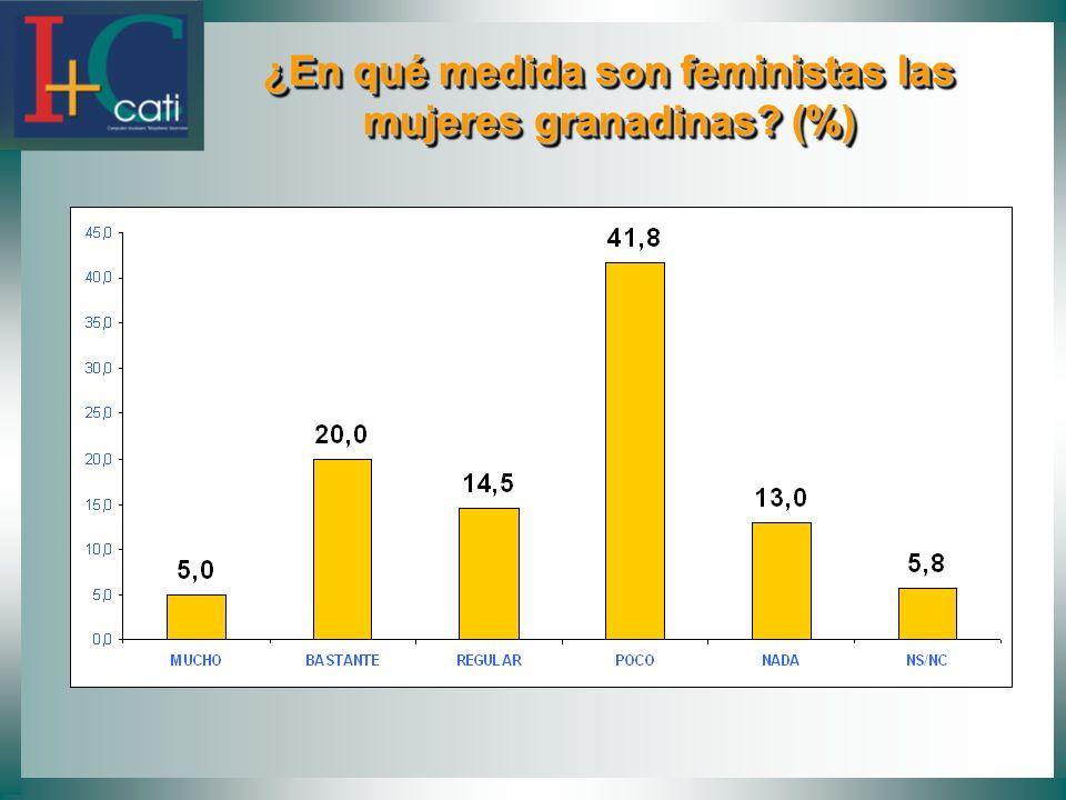 ¿En qué medida son feministas las mujeres granadinas (%)