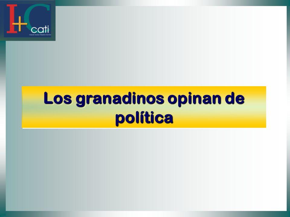 Los granadinos opinan de política