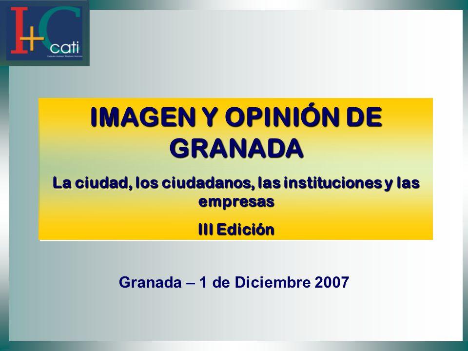IMAGEN Y OPINIÓN DE GRANADA