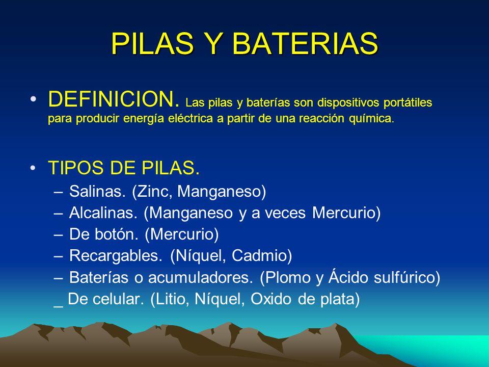 Disposicion final de las pilas y baterias usadas en mexico - Tipos de pilas de boton ...