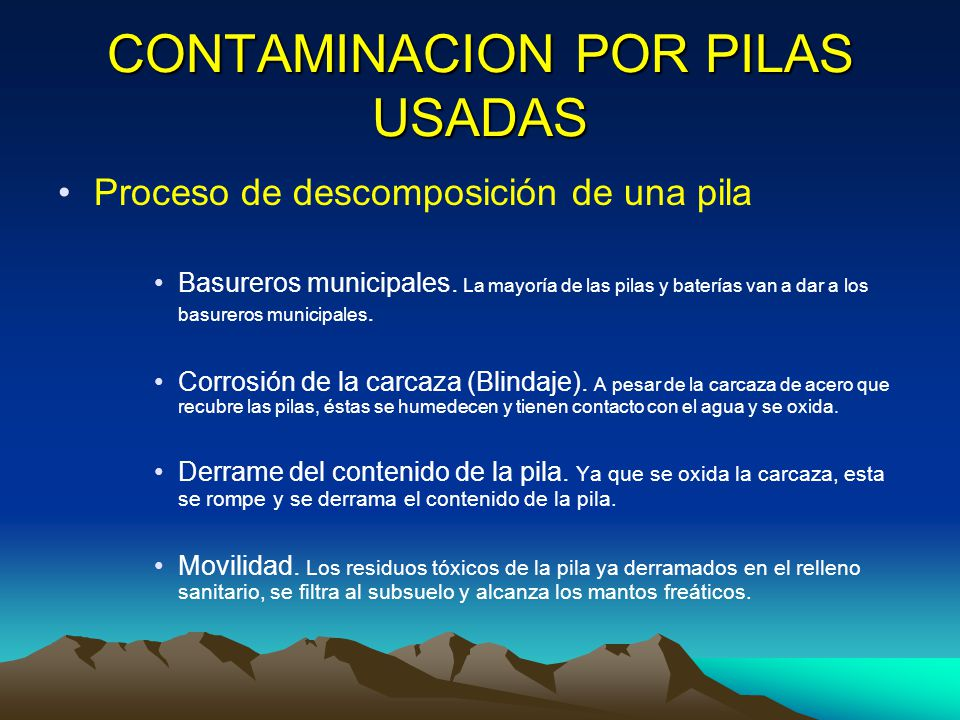 Contaminacion pilas y baterias youtube disposicion final - Tipos de pilas recargables ...