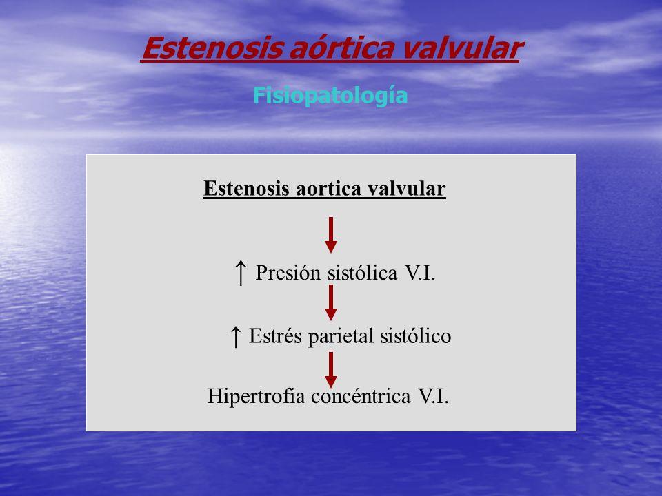 Estenosis aórtica valvular