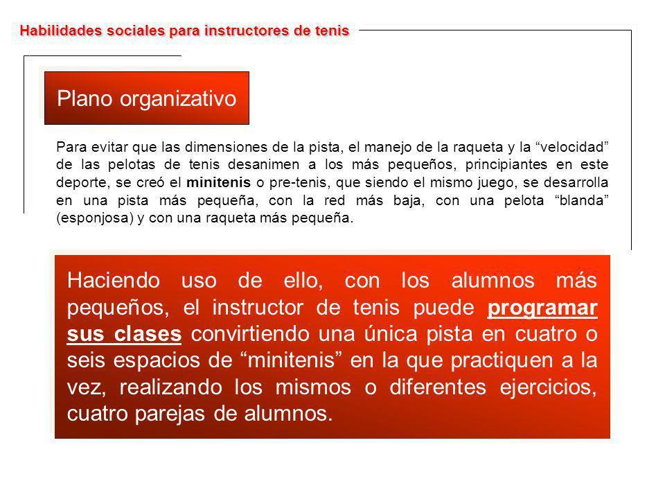 Habilidades sociales para instructores de tenis