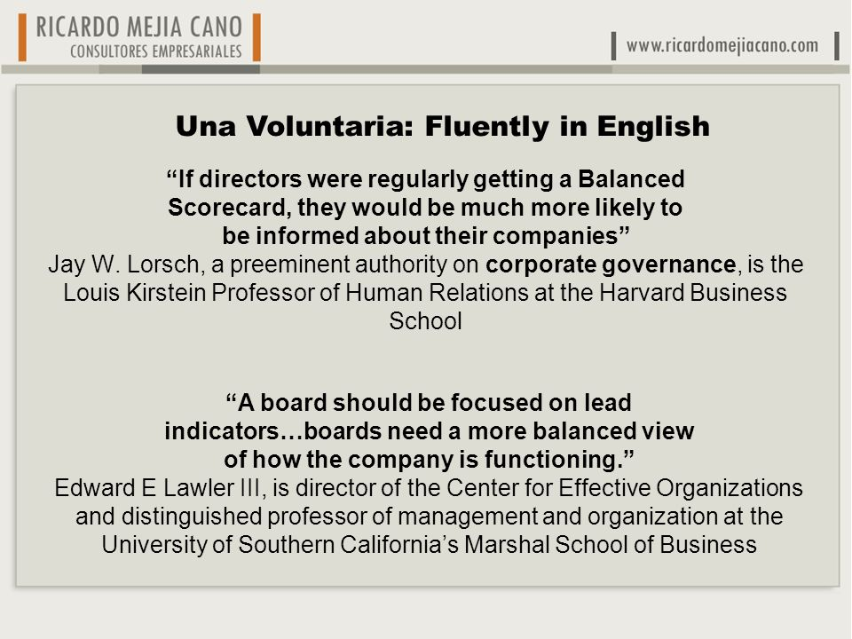 Una Voluntaria: Fluently in English