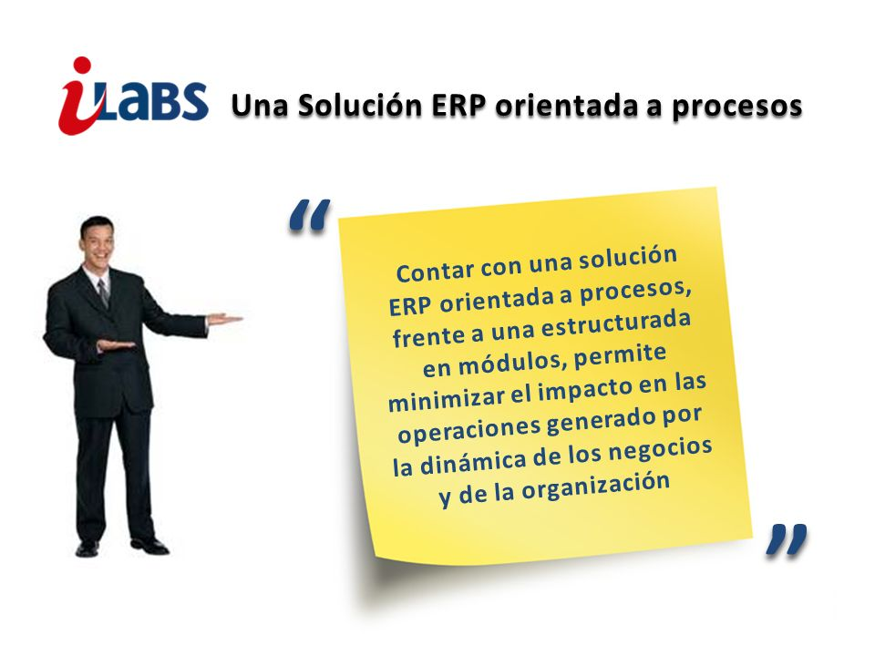 Una Solución ERP orientada a procesos