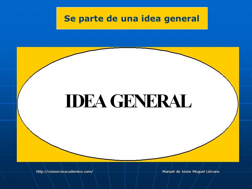 Se parte de una idea general