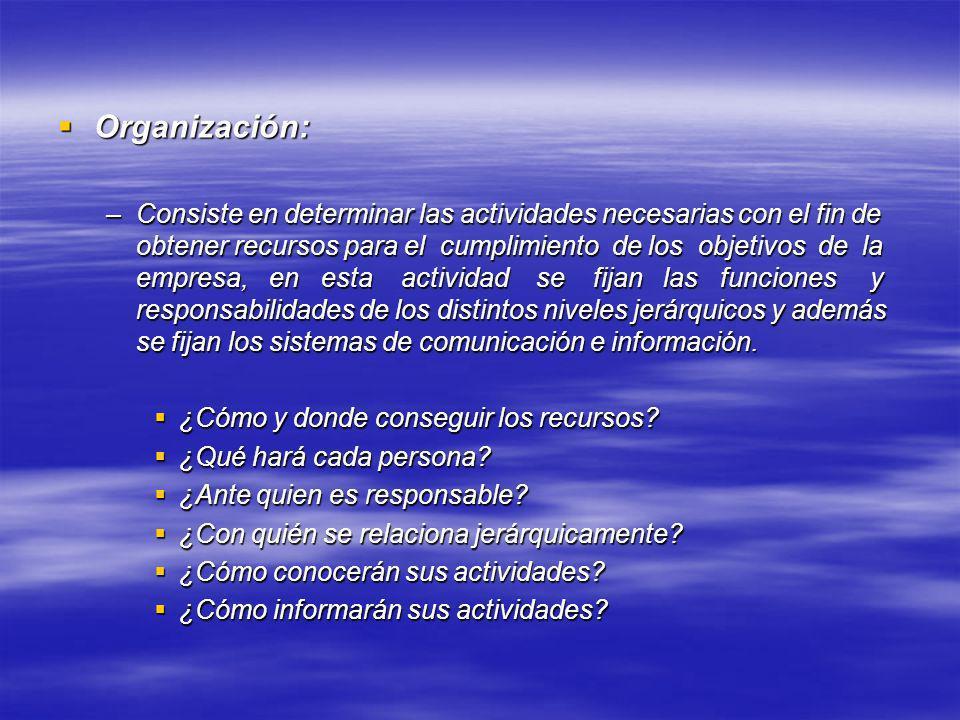 Organización: