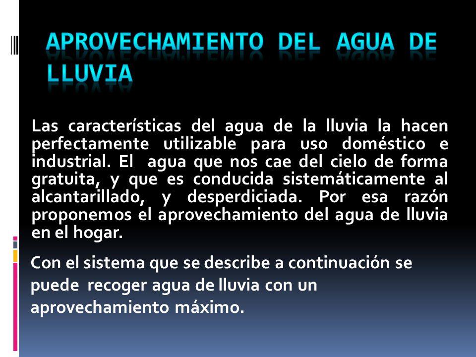 APROVECHAMIENTO DEL AGUA DE LLUVIA