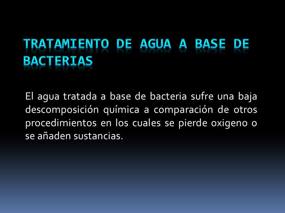 Tratamiento de agua a base de bacterias