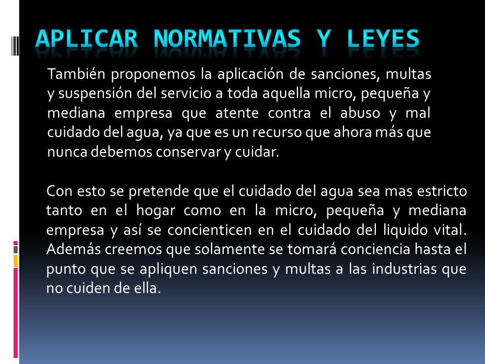 APLICAR NORMATIVAS Y LEYES