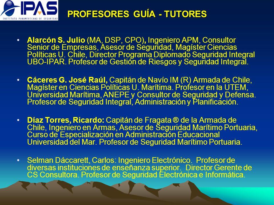 PROFESORES GUÍA - TUTORES