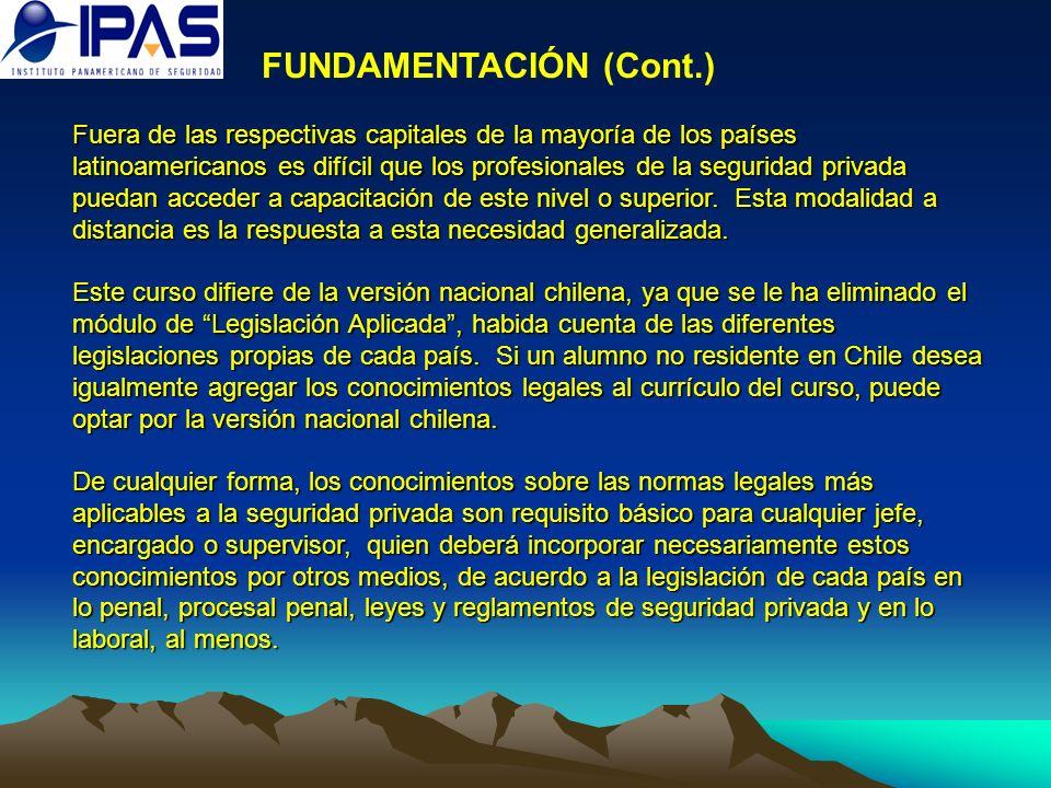 FUNDAMENTACIÓN (Cont.)