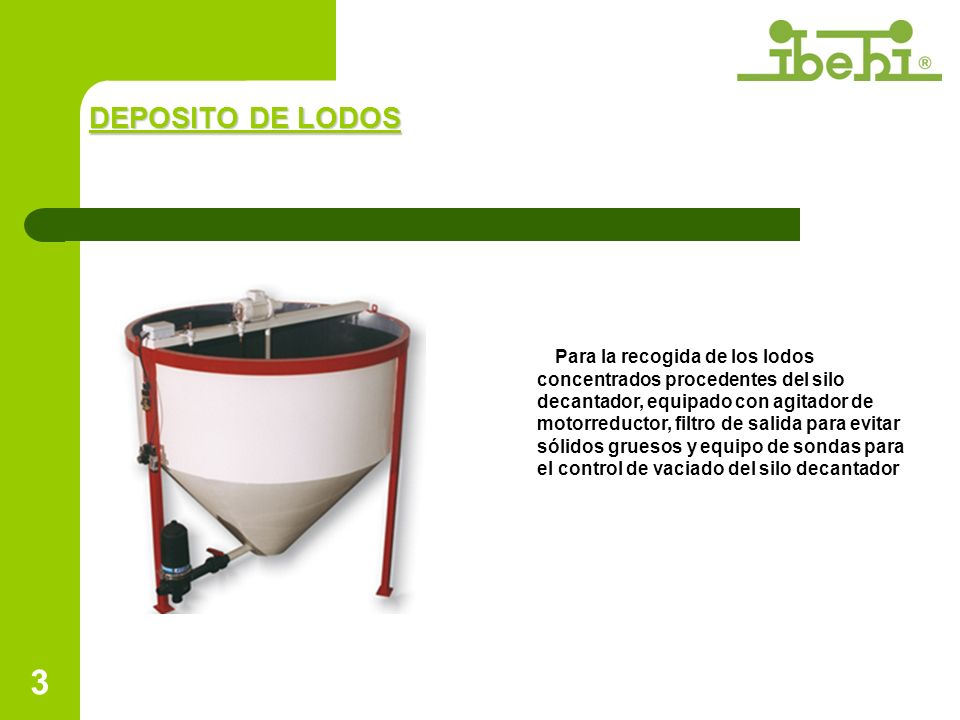DEPOSITO DE LODOS