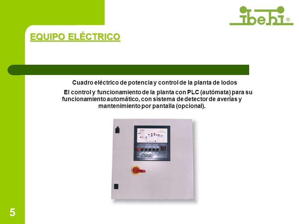 Cuadro eléctrico de potencia y control de la planta de lodos