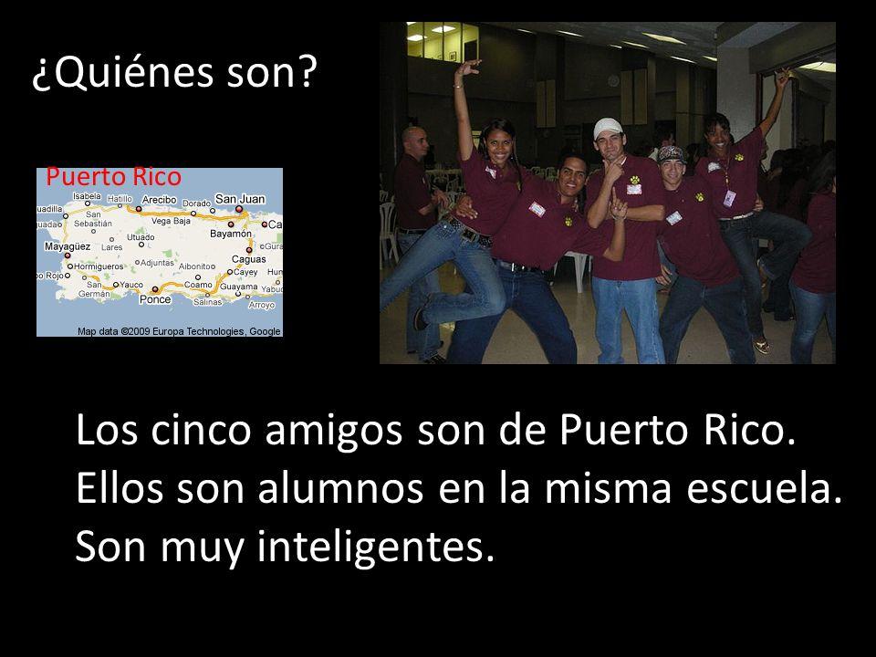 Los cinco amigos son de Puerto Rico.