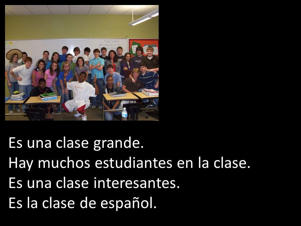 Es una clase grande. Hay muchos estudiantes en la clase.
