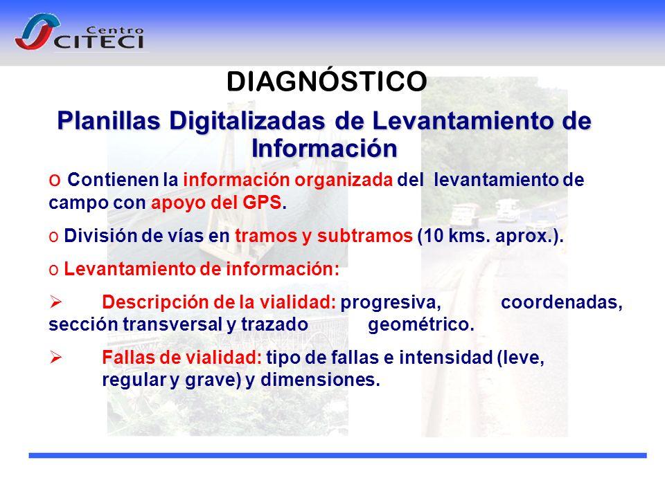 Planillas Digitalizadas de Levantamiento de Información