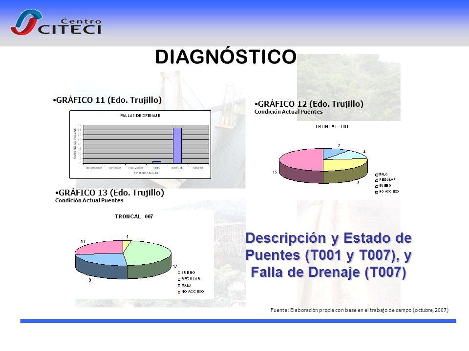 Descripción y Estado de Puentes (T001 y T007), y