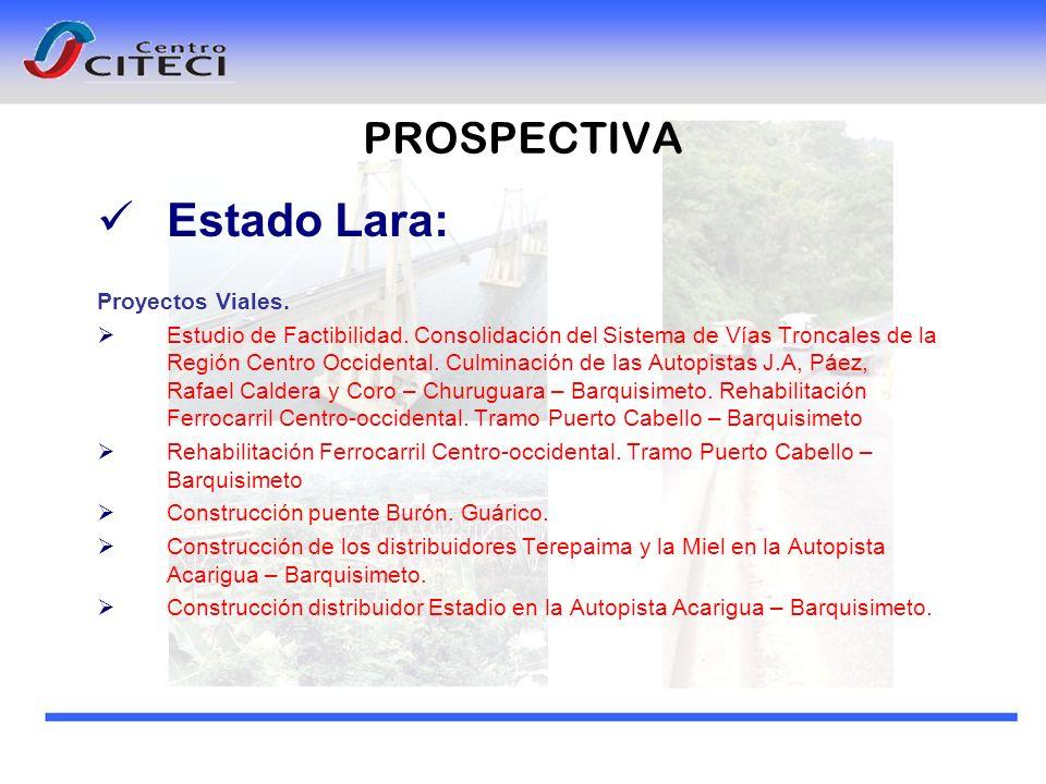 Estado Lara: PROSPECTIVA Proyectos Viales.
