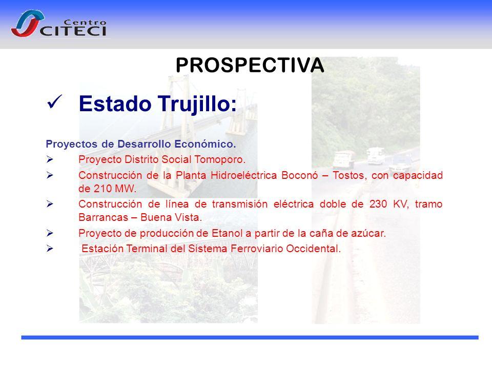 Estado Trujillo: PROSPECTIVA Proyectos de Desarrollo Económico.