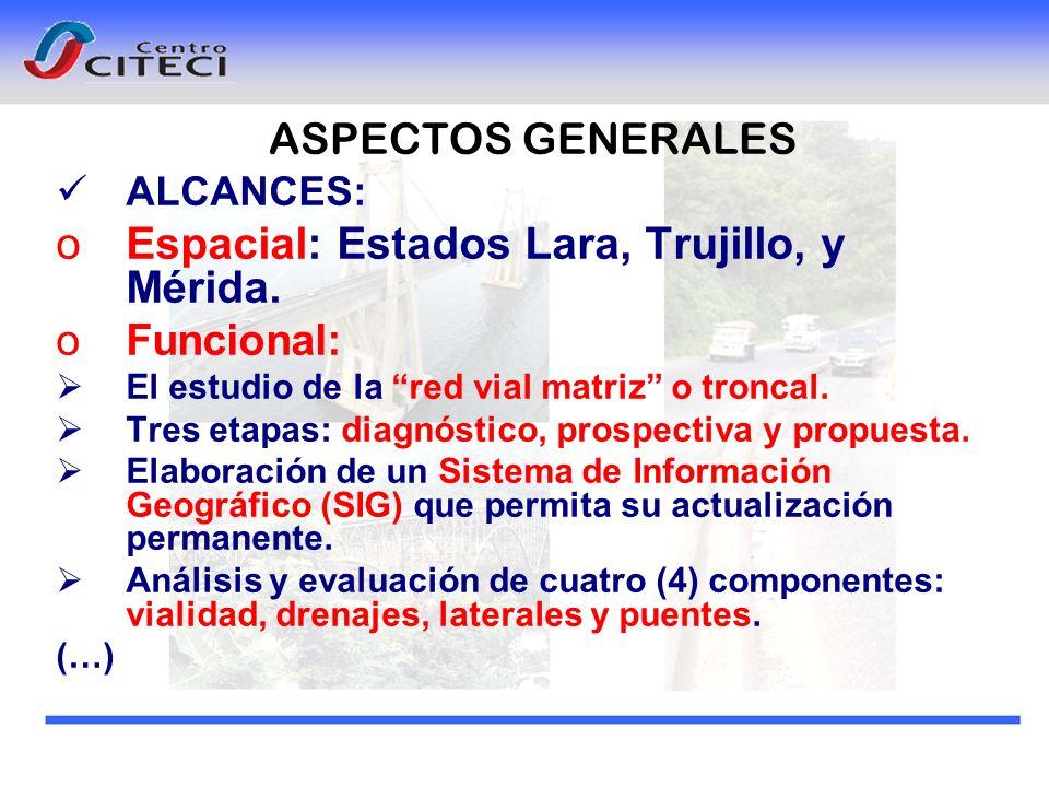 Espacial: Estados Lara, Trujillo, y Mérida.