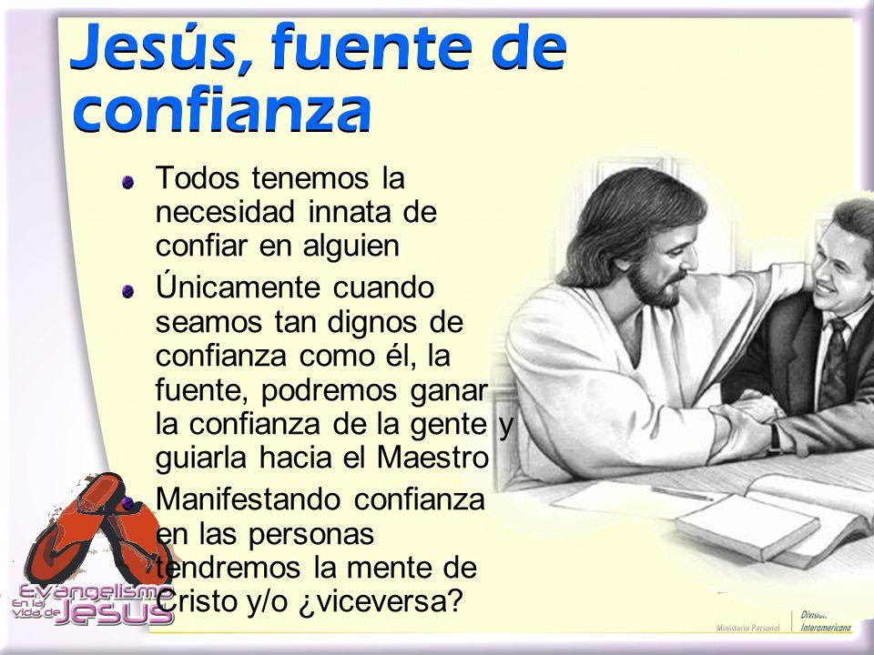 Jesús, fuente de confianza
