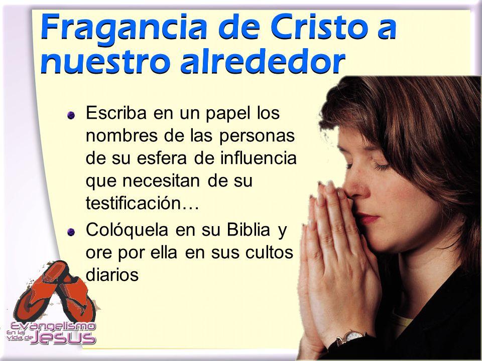 Fragancia de Cristo a nuestro alrededor