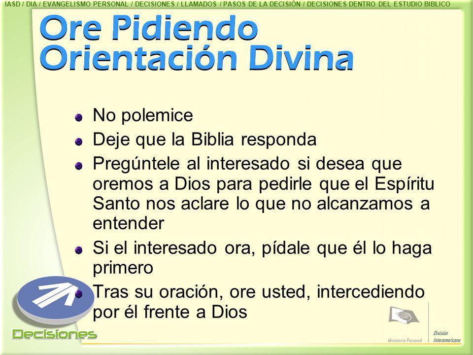 Ore Pidiendo Orientación Divina