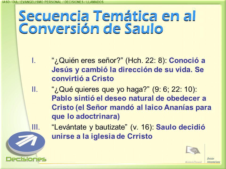 Secuencia Temática en al Conversión de Saulo
