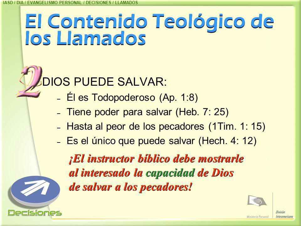 El Contenido Teológico de los Llamados