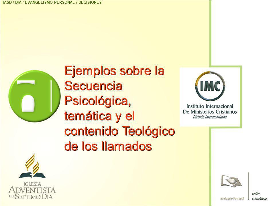 IASD / DIA / EVANGELISMO PERSONAL / DECISIONES