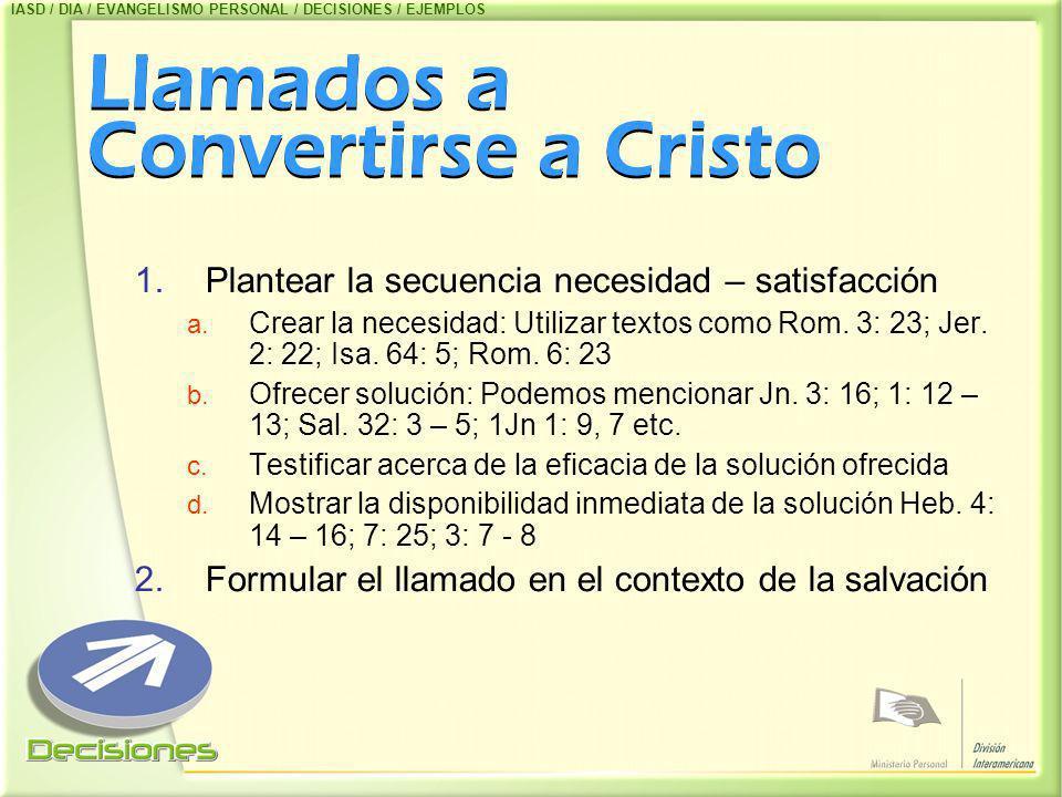 Llamados a Convertirse a Cristo