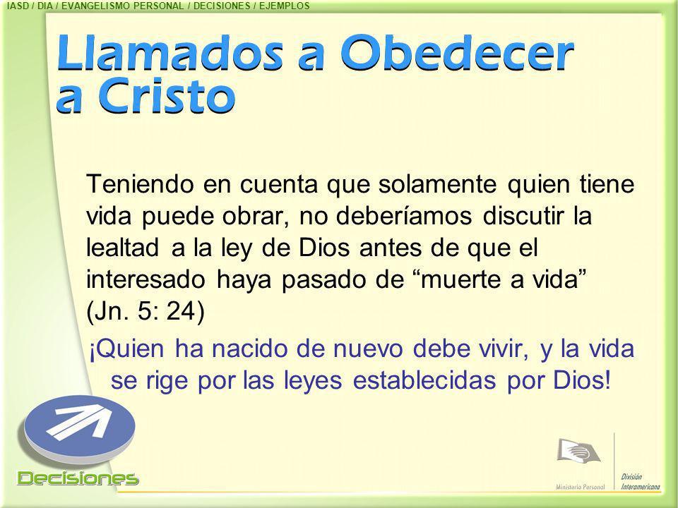 Llamados a Obedecer a Cristo