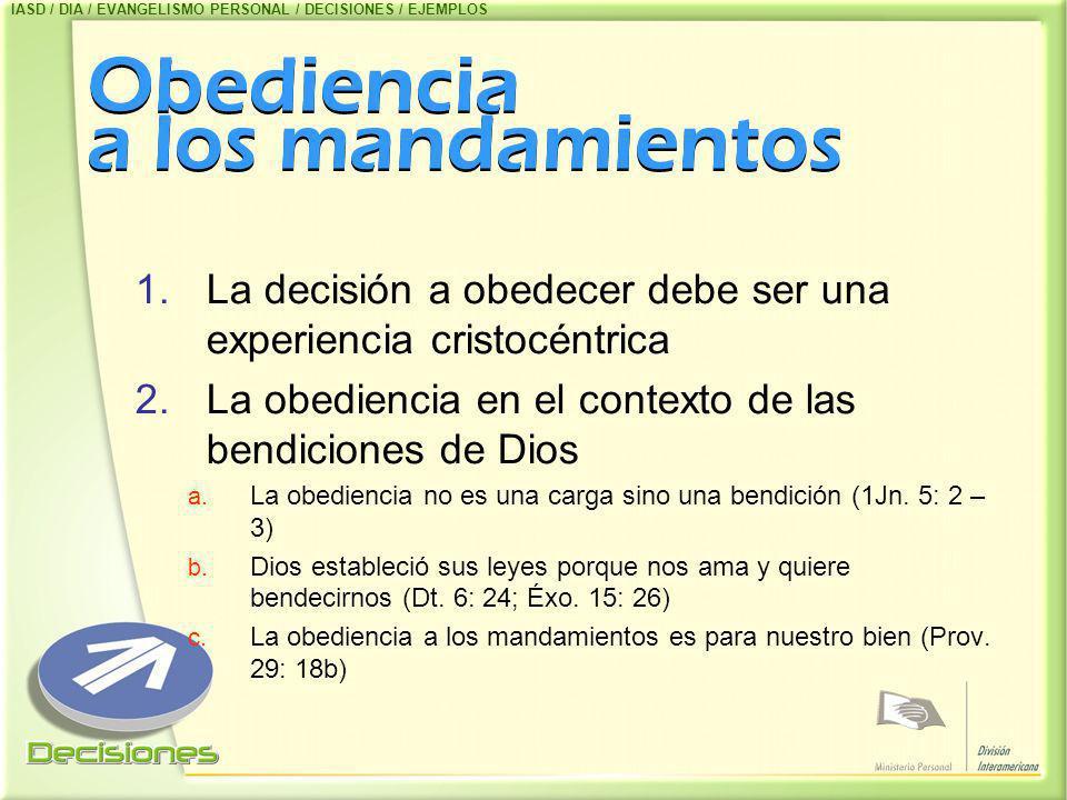 Obediencia a los mandamientos