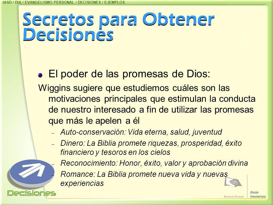 Secretos para Obtener Decisiones