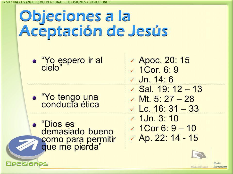 Objeciones a la Aceptación de Jesús