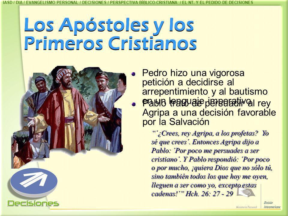 Los Apóstoles y los Primeros Cristianos