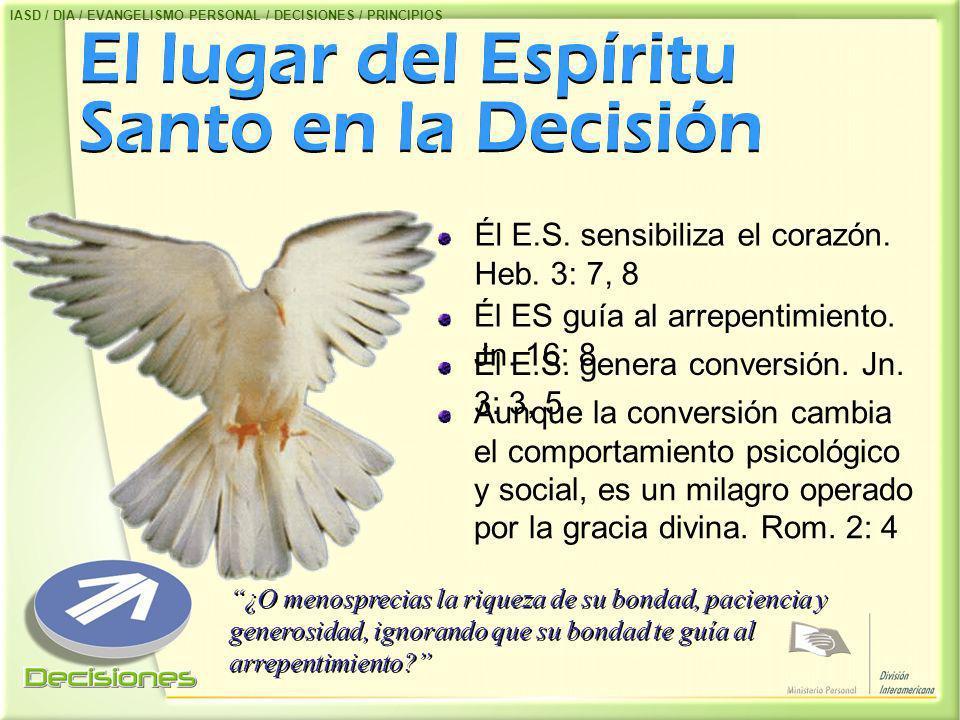El lugar del Espíritu Santo en la Decisión