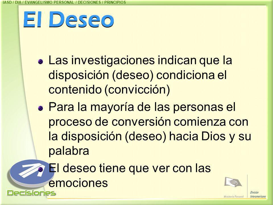 IASD / DIA / EVANGELISMO PERSONAL / DECISIONES / PRINCIPIOS