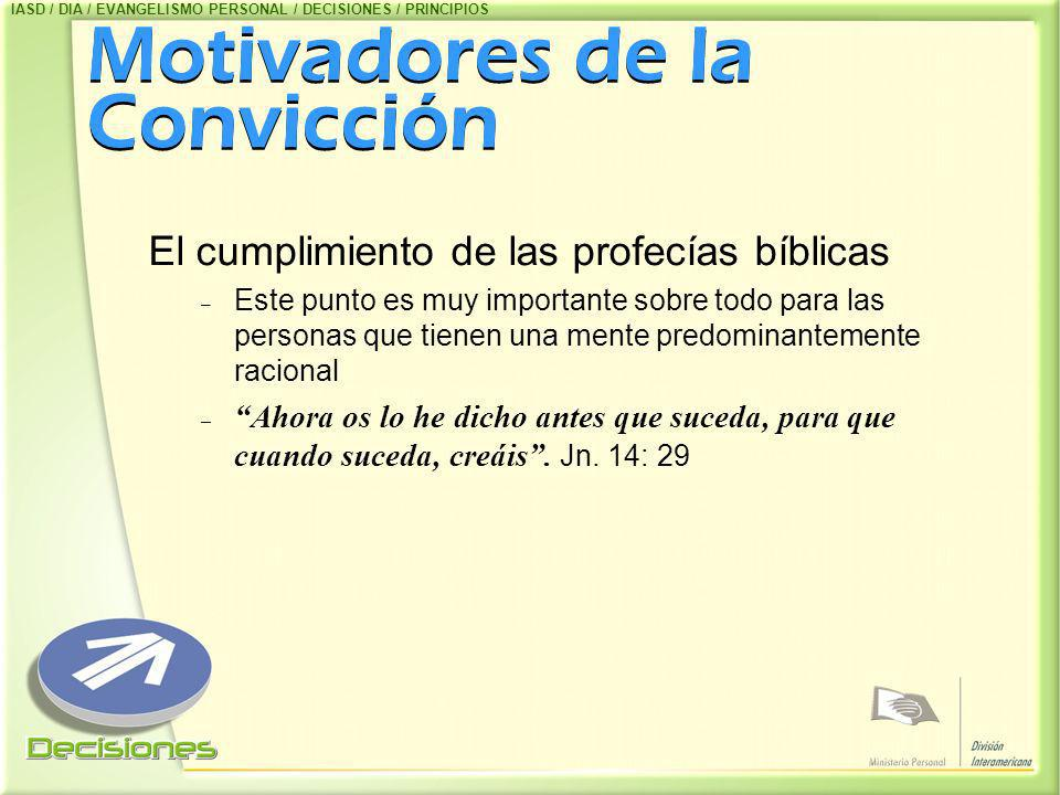 Motivadores de la Convicción