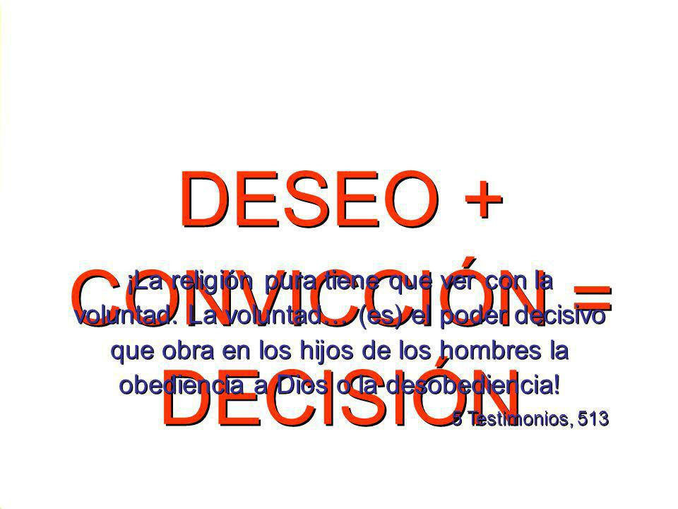 DESEO + CONVICCIÓN = DECISIÓN