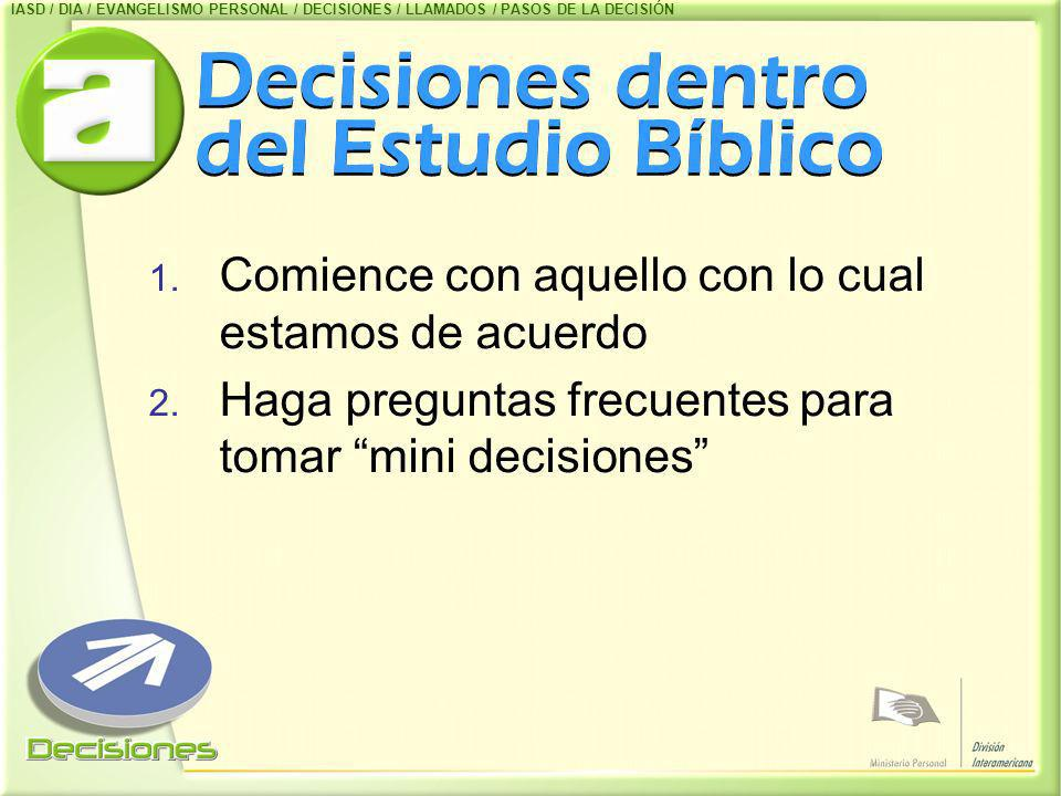 Decisiones dentro del Estudio Bíblico