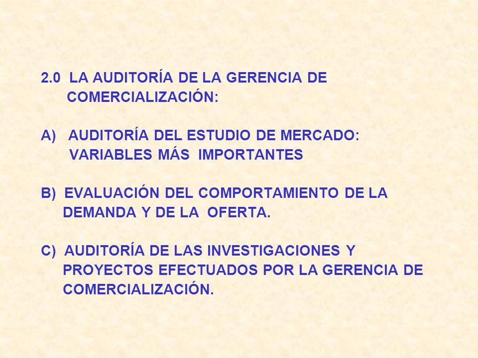 2.0 LA AUDITORÍA DE LA GERENCIA DE