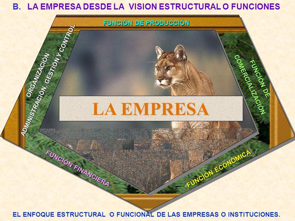 LA EMPRESA LA EMPRESA DESDE LA VISION ESTRUCTURAL O FUNCIONES