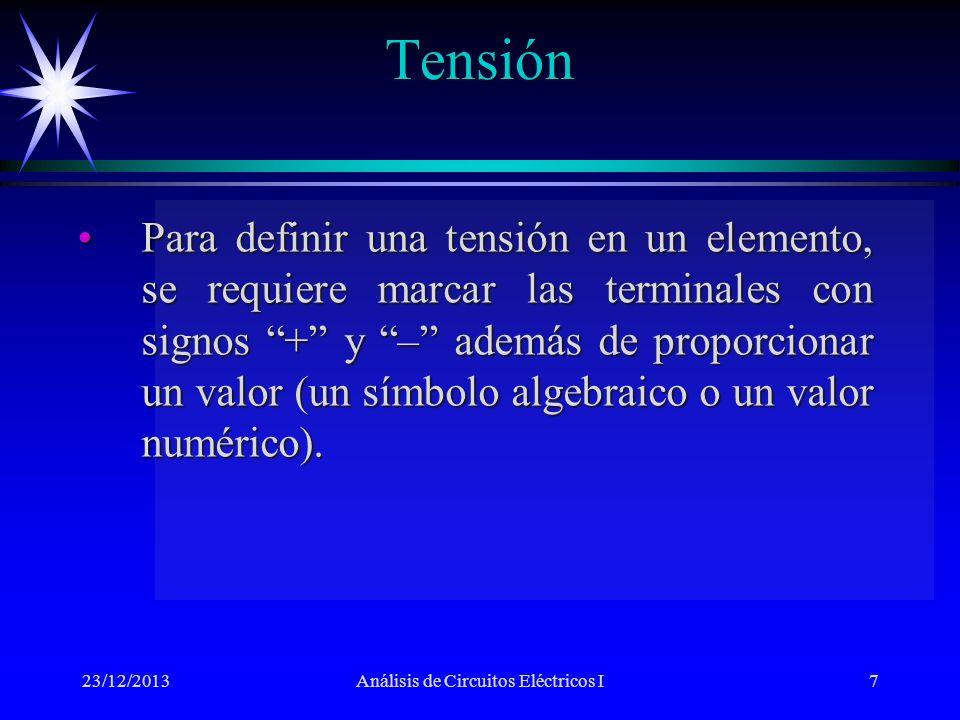 Análisis de Circuitos Eléctricos I