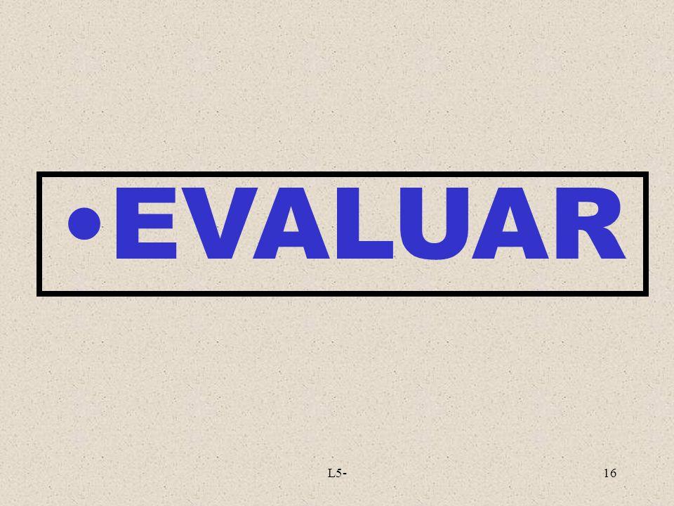 EVALUAR L5-